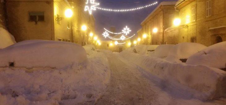 Nevicata Gennaio 2017 – Video Del Paese in Notturna