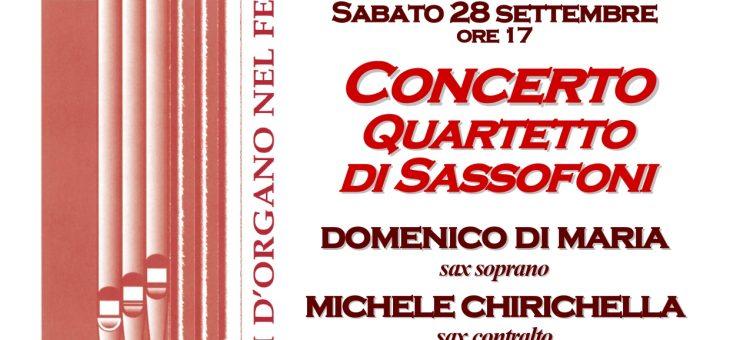 IL FERMANO IN MUSICA – CONCERTO QUARTETTO DI SASSOFONI-SABATO 28 SETTEMBRE ORE 17:00